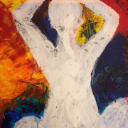 Meditating Madly. Painting by Katherine Mair
